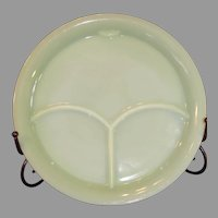 Fire King Jadite Grill Plate - 1940s
