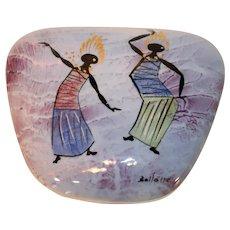 Marc Bellaire Bali Dancers Covered Porcelain Box