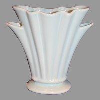 Turquoise Camark Pottery Fan Vase - c. 1930s