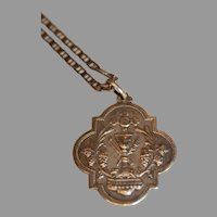 Antique French Sterling Chalice Medallion