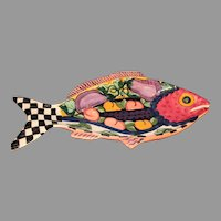 Vintage Vicki Carroll Pottery Fish Platter