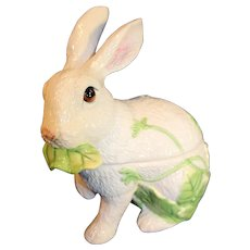 Fitz and Floyd Covered Ceramic Candy Rabbit