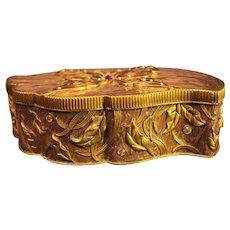 Vintage Enameled Jewelry Box