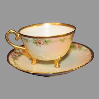 Limoges Porcelain Coffee Cup and Saucer