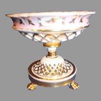 Old Paris Porcelain Comport - late 1800s