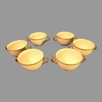 Bassett Limoges Porcelain Double Handled Soup Cups - Austria