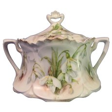 R S Prussia Porcelain Master Sugar - late 1800s
