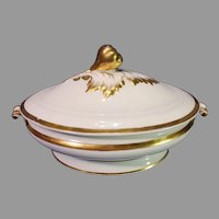 Rare Haviland and Company Porcelain Acorn Leaf Covered Tureen - 1865-1875