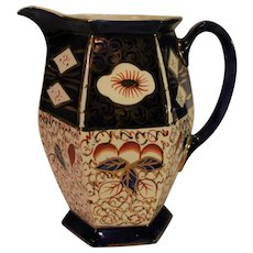 Arthur Wood Cobalt and Red Pottery Pitcher - c. 1930