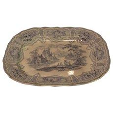 Scottish Stoneware Meat Platter - Syria Pattern - Robert Cochran and Company - c. 1850