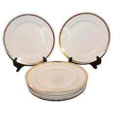 6 Haviland and Company Dinner Plates - Wedding Ring Pattern - 1865-1885