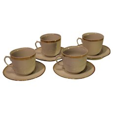 Haviland Wediing Ring Pattern Cup and Saucer - Set of 4 - 1893-1930