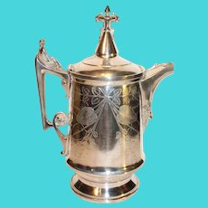 Reed and Barton/James Stempson Silver-Plate Cold Water Pitcher - c. 1860-1870