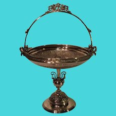 Reed and Barton Silver-Plate Bride's Basket - c. 1880