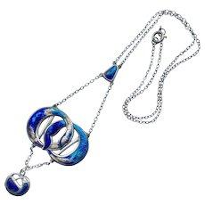 Art Nouveau Charles Horner Enamelled Silver Necklace