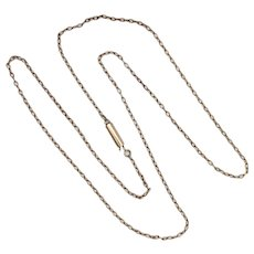 Edwardian 9K Rose Gold Cable Chain Necklace