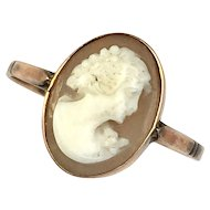 Antique/Vintage Rose Gold Shell Cameo Ring