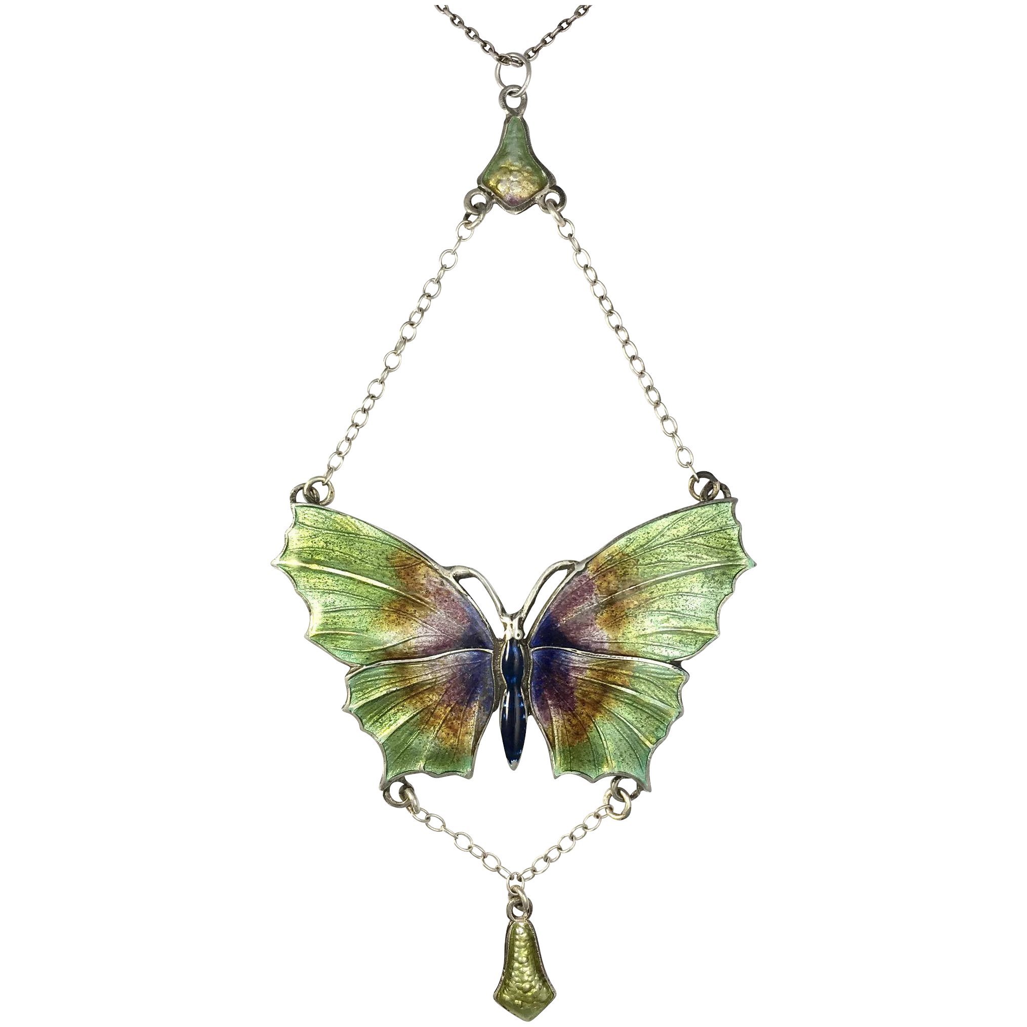 70/'s Vintage Silver Butterfly           LV0169