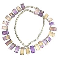 Ametrine and Silver Riviere Necklace