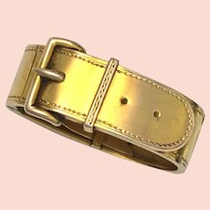 Antique 9K Gold Belt Buckle Scarf Clip
