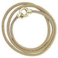Vintage 9K Gold Woven Chain Necklace