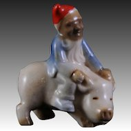 Wade Ireland Leprechaun Riding Pig