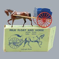 Britains No 45F Milk Float and Horse with Box