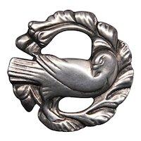 Hansen Design Mid-Century Sterling Silver Dove Brooch