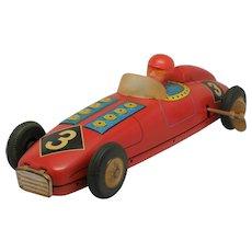 Vintage Tin Wind-Up Toy Racer #3