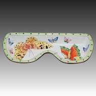 Kelvin Chen Hand Enamelled Copper Butterfly Eyeglass Holder Tray