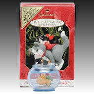 Rare Colorway Hallmark Ornament Mischievous Kittens QX6427