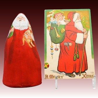 Mary Hoot Artisan Signed Hand Painted Santa Dollhouse Miniature