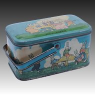 Vintage Tindeco Peter Rabbit Tin Lunch Box