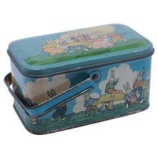 Vintage Tindeco Peter Rabbit Tin Lunch Box