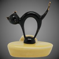 Wade Candle Holder With Bouldray Metal Black Cat