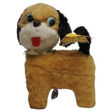 Linemar Wind Up Dog with Butterfly