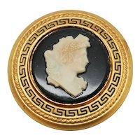 Vintage Lux Soap Premium Gone With The Wind Cameo Pin Brooch
