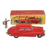 Prameta Red Buick 405 Wind Up Car British Zone Germany