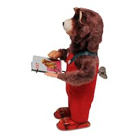 Vintage Wind Up Cubby the Reading Bear ALPS Japan