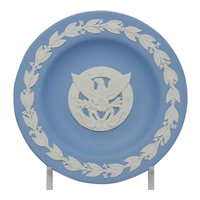 Wedgwood Blue and White Jasperware Eagle Seal Pin Tray Dish