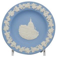 Wedgwood Blue and White Jasperware Washington DC Pin Tray Dish