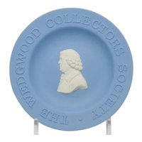 Wedgwood Blue and White Jasperware Collector's Society  Pin Tray Dish