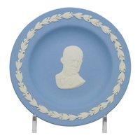 Wedgwood Blue and White Jasperware President Eisenhower Pin Tray Dish