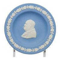 Wedgwood Blue and White Jasperware Winston Churchill Pin Tray Dish