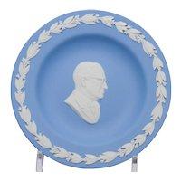 Wedgwood Blue and White Jasperware President Truman Pin Tray Dish