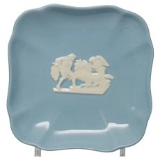 Wedgwood 1950s Embossed Queensware Square Pin Tray Dish