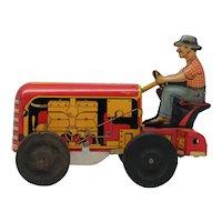 Vintage Courtland Tractor Vintage Tin Wind-Up Toy