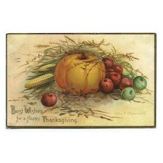 International Art Thanksgiving Postcard - Pumpkin