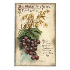 International Art Thanksgiving Postcard - Grapes