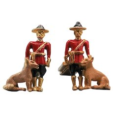 Sarah Coventry Figural Cuff Links - Royal Canadian Mountie and Dog